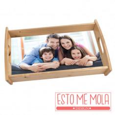 Bandeja de madera con foto