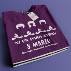 Camiseta feminista ni una paso atras