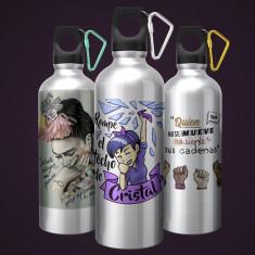 Botella aluminio  feminista 600 ml