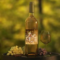 Botella vino Blanco con foto