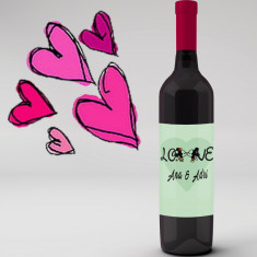 Botella vino tinto Love