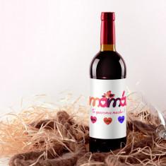 Botella vino tinto Mamá te queremos