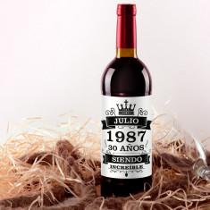 Botella vino tinto Increible