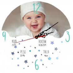 Reloj de cristal BEBE 30x30 pared