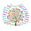 Portalapices árbol manos personalizado