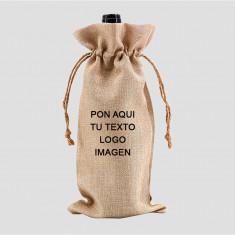 Bolsa para vino de arpillera