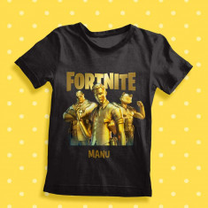 Camiseta Infantil Fornite Dorada